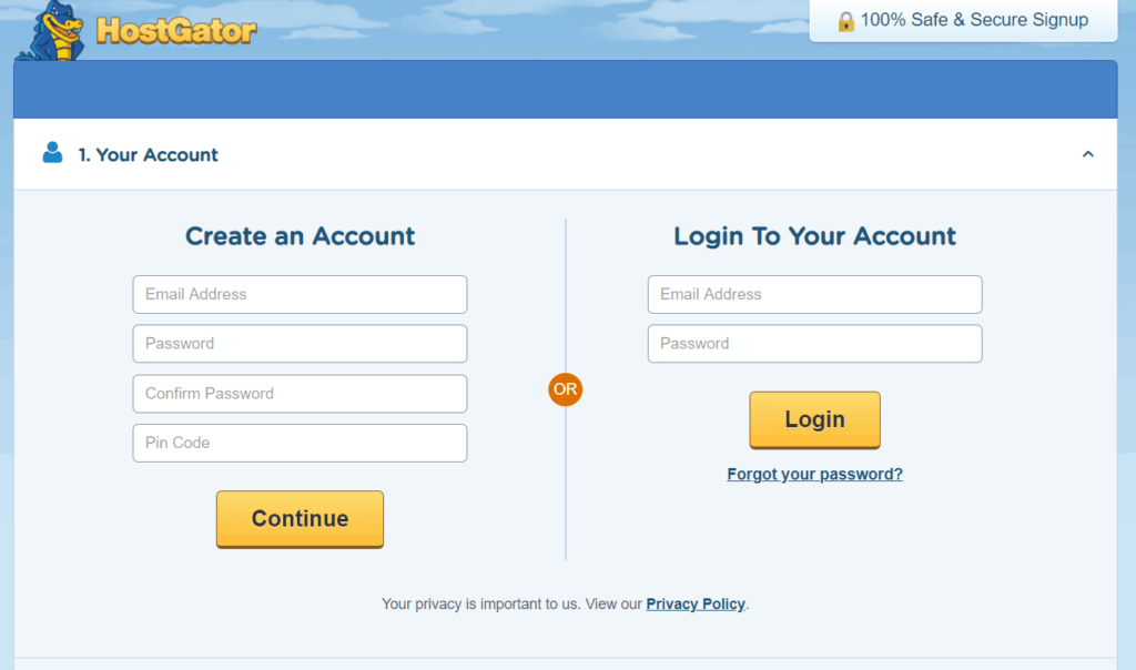hostgator domain search screenshot step 8