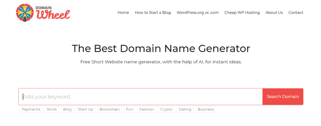 domain name generators blogfiti domain wheel