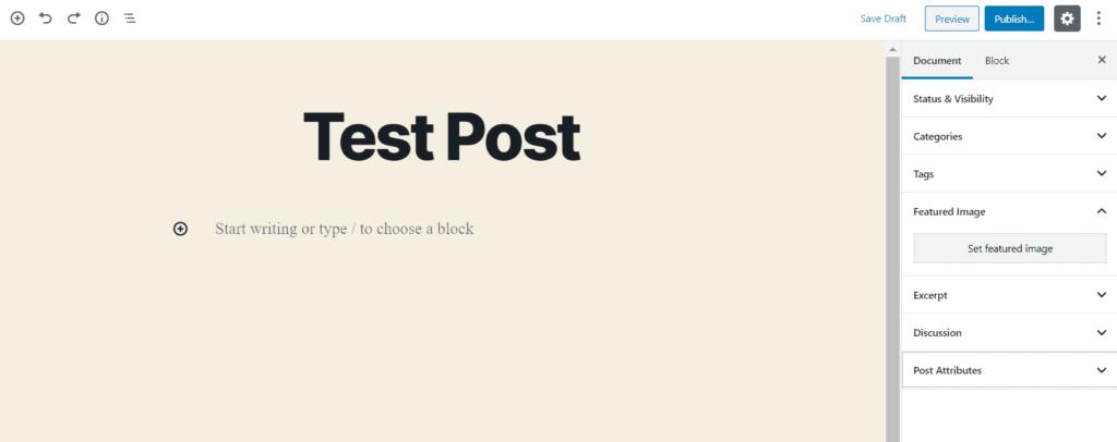 Understanding Your WordPress Dashboard New Post Visual Screenshot