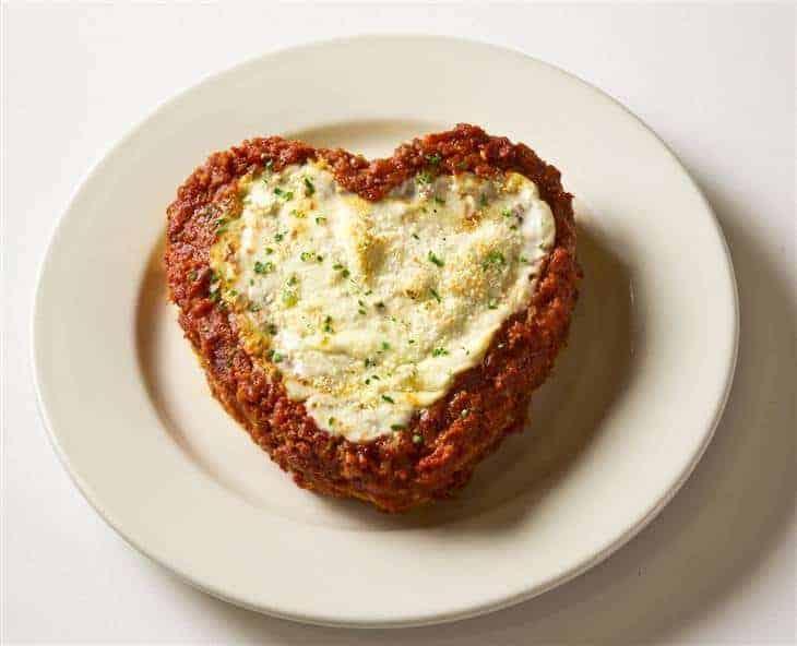 heart shaped lasagna
