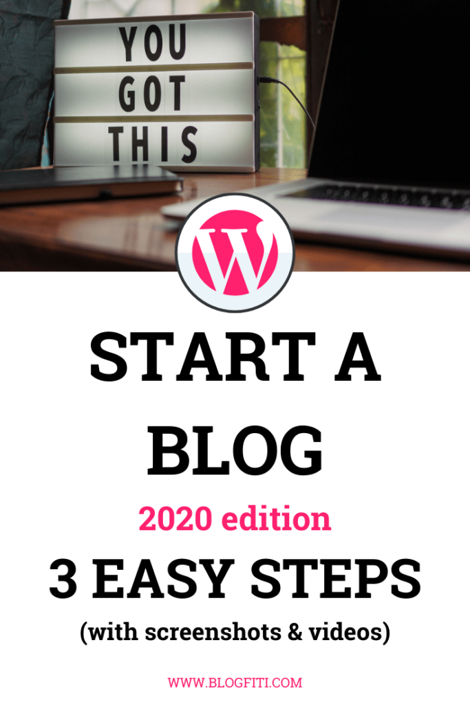 start a blog with wordpress easy steps pin