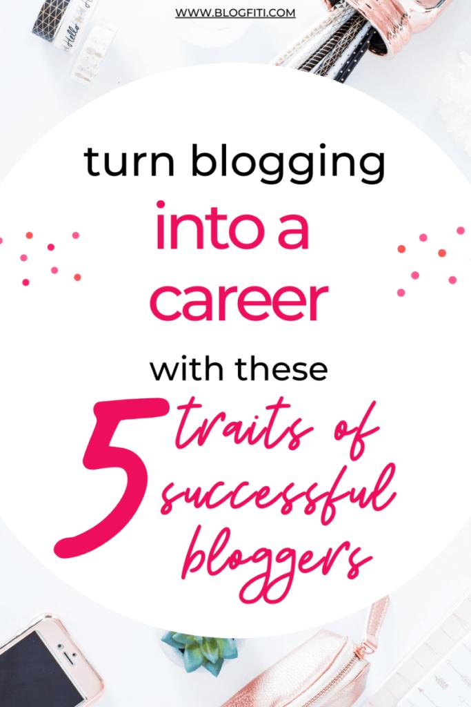 blogging as a career pin