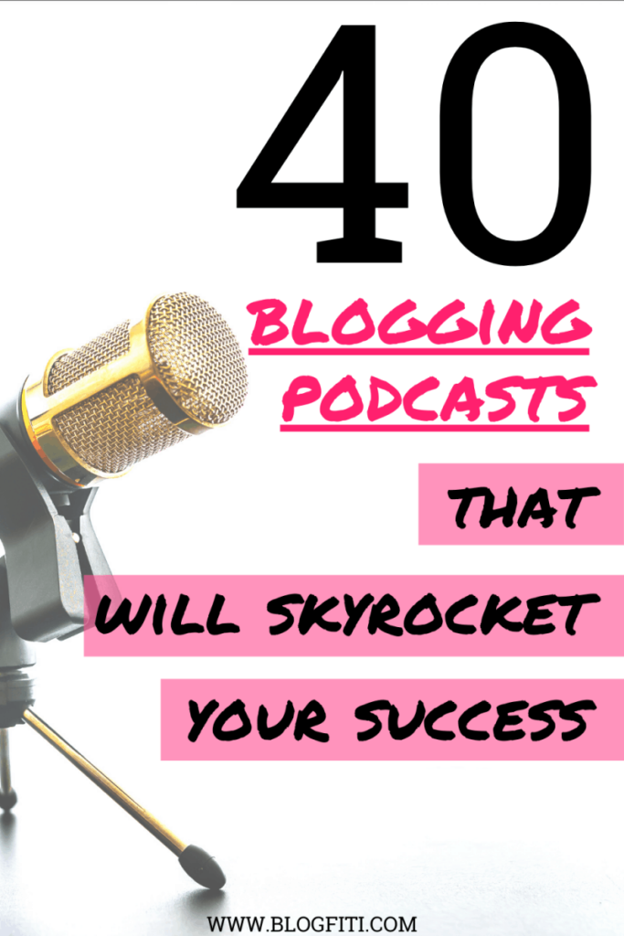 blogging podcasts pin