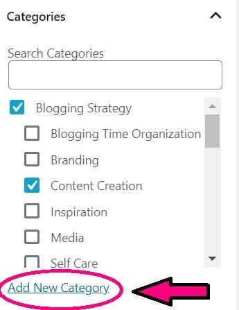 wordpress posts page categories