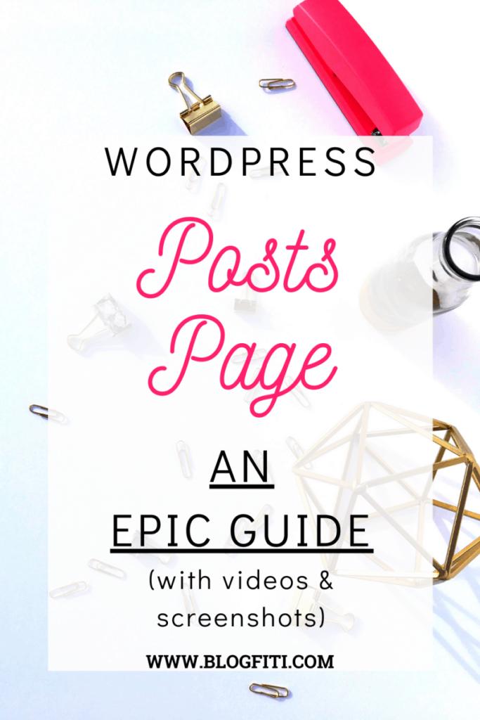 wordpress posts page pin