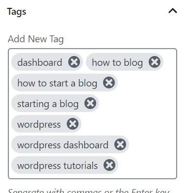 wordpress posts page tags