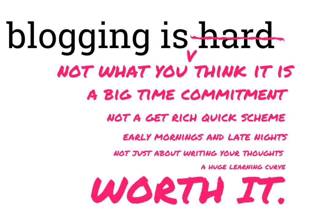 BLOGGING IS WORTH IT.