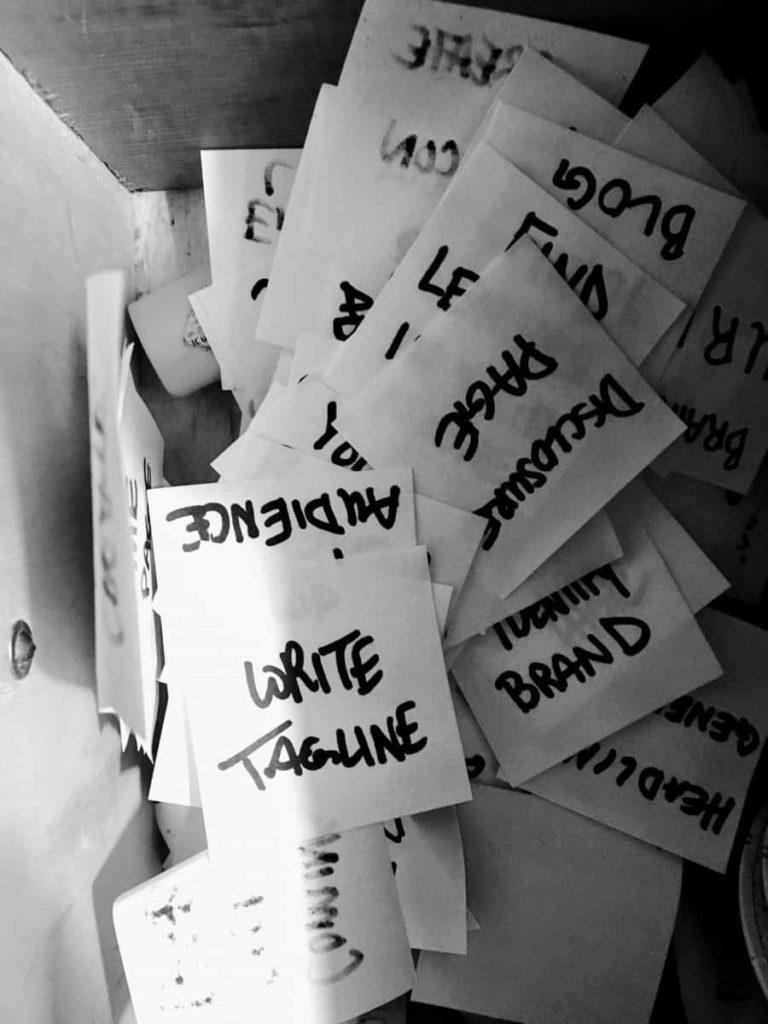blog post idea notebook