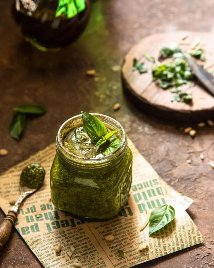 foodiesfeed.com homemade basil pesto